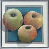 Frame with 3 apples (print) by Patrick Lessware, Painting, Acrylic on board
