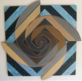 Spiral Counterpoint by Patrick Lessware, Painting, Acrylic on board
